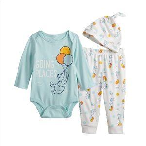 New Disney's Winnie The Pooh Baby Graphic Set